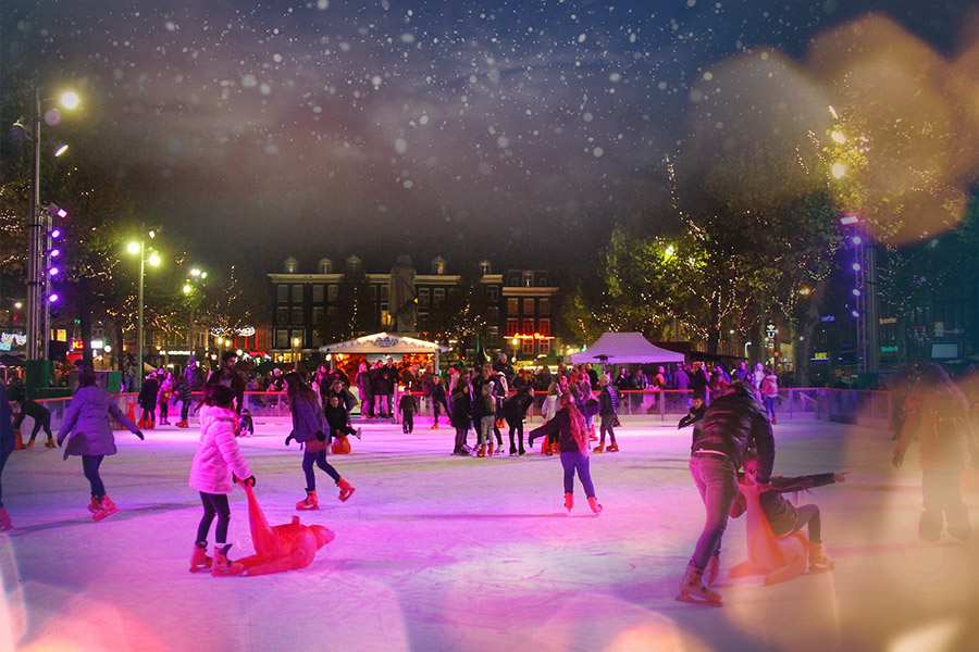 IJsbaan Rembrandtplein Amsterdam 2019-2020